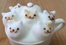 frothy coffee faces