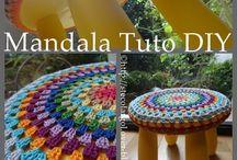 Mandalas pour tabourets