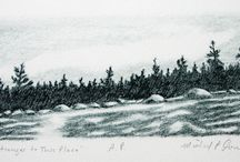 Michael Connolly : Artwork / Paintings & Prints (etchings, drypoints and lithographs) by Newfoundland artist, Michael Connolly