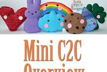 3AMGRACEDESIGNS | Video Tutorials / Crochet video tutorials for Mini C2C corner to corner crochet