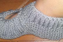 sapatinho de tricô adulto