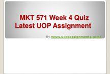 MKT 571 Week 4 Quiz