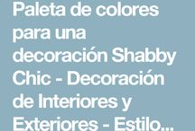 paleta de colores estilo Shabby chic