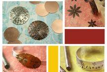 Stamped metal jewellery