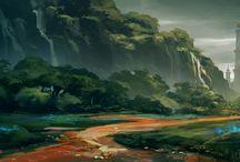 Fantasy Landscape Illustrations