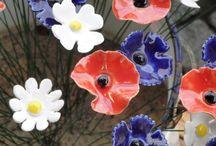 keramika květiny