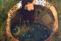 Lascia che le acque si calmino. / Vedrai la luna e le stelle specchiarsi  nel tuo animo. Rumi
