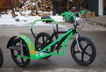 Fahrradbeiwagen.