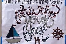 Phi Rho Your Boat / To raise funds for the Leukemia & Lymphoma society many chapters host this engineering challenge. Teams create and race their own boats made from recycled materials to determine a winner!