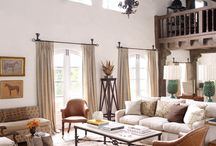 Rustic and Refined / Reach the peak of chic this season with our refined rustic glam design style. Weathered wood and wrought iron finishes meet bright white furniture, clean lines, and the perfect touch of gold. Celebrate the exquisite juxtaposition of our two beloved collections, Rustic Lodge and Hollywood Regency, in this new and genteel look.