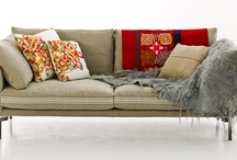 Sofas and cushions