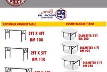 banquet tablels