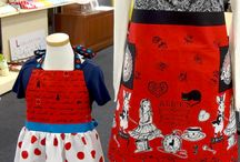 Judies Cotton Collection featuring Alice in Wonderland / Here is the Fabric Magic for you! You can make aprons or bags out of 1 yard fabric easily! Very sweet simple project for anyone!