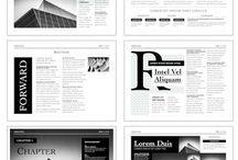 Editorial design layout