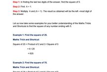 Maths Fast Tricks and shortcuts