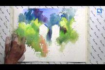 Opskrifter, akvarelmalerier / akrylmaleri