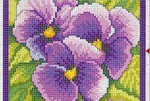 Heartsease Cross Stitch