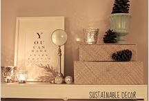 SD: Holiday Home Decor / Sustainable home decor is all created from secondhand treasures. Lexie and Priscilla find items while thrifting, yard sale shopping and sometimes even when trash picking. We add our own personal touch as we both passionately breathe new life into everything secondhand.