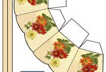 Paper boxes templates