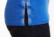 przerabianie, haftowanie bluzek