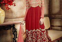 Ameera Anarkali Salwar Kameez / Make your dream attire look richer to your persona with this prepossessing georgette party wear anarkali salwar kameez.