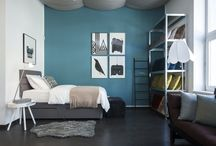 Modré interiéry