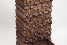 muebles con fracmentos de maderas