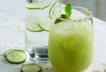 cucumber and basil moctail