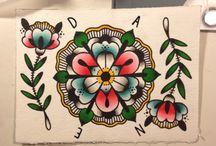 Old school tattoo - Flowers