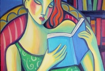 Cuadros de mujeres leyendo/ Pictures of women reading / Pinturas de mujeres leyendo. Cuadros de mujeres con libros. Paintings of women reading. Pictures of women with books.