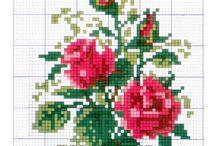 Виш: квіти МІНІ / Схеми вишивання
