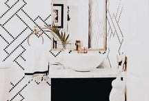 // Budget Bathroom // / A small bathroom update. some inspiration for our half bath. It needs an update and definitely some new fixtures.