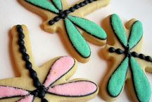 Cookie art dragonfly
