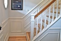Hall, stairs. landing makeover