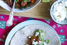 Wrap recipes / Wraps are great for midweek meals - I love them and the kids do too - just remember not to overstuff!