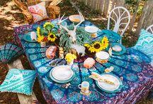 boho patio party