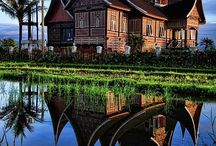 Traditional house of padang.sumatra indonesia
