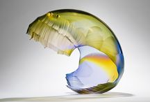 Graham Muir Art Glass / Muir exploits gravity and the way in which the soft, molten glass responds, no mean feat as often both this physical force combined with such a unpredictable material can have their own ideas.