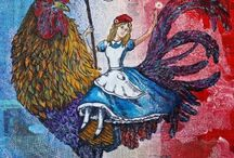 in the Alice Series by Fleur / Paintings About Alice adventures in San Francisco