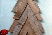 Rustic christmas trees