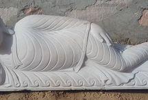 Sleeping Buddha statues in India