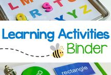 Kids activities binders/Busy bags