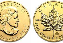 Maple Leaf Gold Coins / Maple Leaf Goldmünze