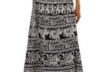 Fashiana - Indian Maxi Wrap Skirt / Fashiana - Indian Maxi Wrap Skirt Sarong Hippie Gypsy Boho Wraparound Skirts