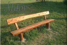 Kerti bútor, rönkbútor / Rönkbútor, fa kerti bútor, rönkjáték, alapanyagok kerti bútorok építéséhez