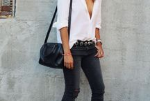 Zwarte jeans outfits
