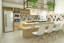 Projetos Autorais / Projeto 3D Cozinha