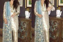 Raw silk suit