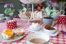 """High tea / ideas for a """"high tea"""" table setting"""