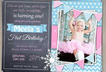 Girls First Birthday Invitation / Girls First Birthday Custom Invitations Print yourself at home, local store or online.  I can print and send to you if required !  $10 standard 24-72 hour time frame  $20 RUSH under 24 hours !  Unique and Personalized just for your wee one :)